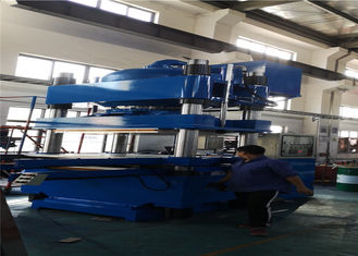 Ergonomic Plate Vulcanizing Machine 1000 Ton Inverted Rubber Bearing Presser Double Layer Molds Design